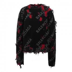Шерстяной свитер Balenciaga. Цвет: чёрный