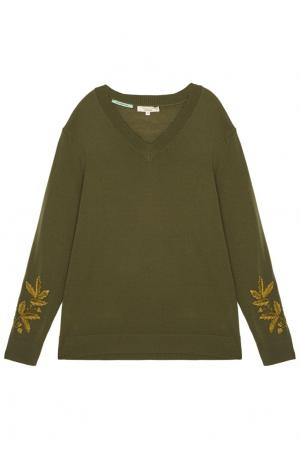 Шерстяной пуловер Akhmadullina DREAMS. Цвет: зеленый