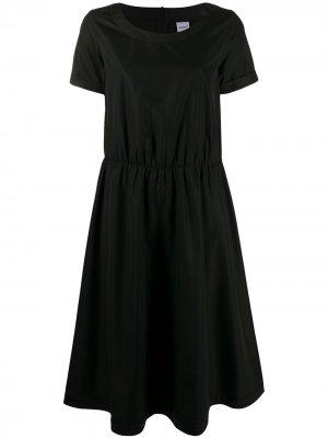 Расклешенное платье с короткими рукавами Aspesi. Цвет: черный