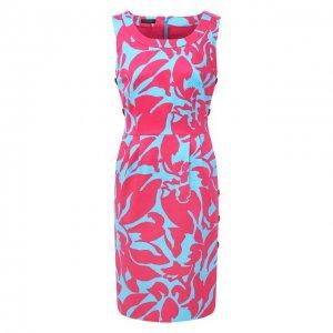 Хлопковое платье Escada. Цвет: разноцветный
