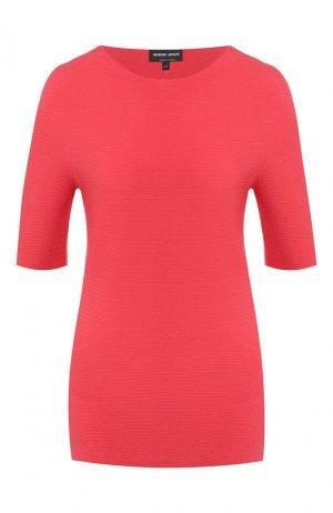 Пуловер из вискозы Giorgio Armani. Цвет: красный