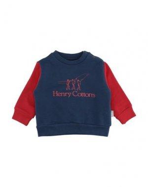 Толстовка HENRY COTTON'S. Цвет: темно-синий