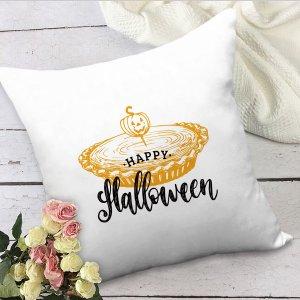 Чехол для подушки без наполнителя на хэллоуин с рисунком SHEIN. Цвет: белый