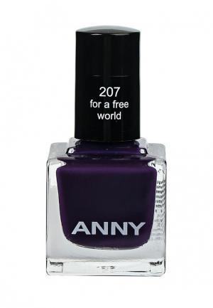 Лак для ногтей Anny тон 207 глубокий фиолетовый. Цвет: фиолетовый