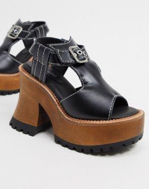 Черные сандалии на платформе -Мульти Jeffrey Campbell