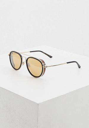 Очки солнцезащитные Jimmy Choo JACK/S R60. Цвет: золотой