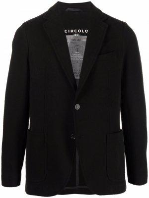 Однобортный пиджак Circolo 1901. Цвет: черный
