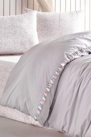 Комплект постельного белья, евро Cotton box. Цвет: серый