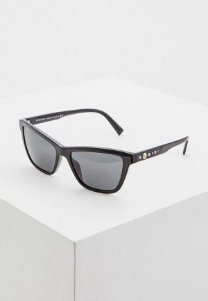 Очки солнцезащитные Versace VE. Цвет: черный
