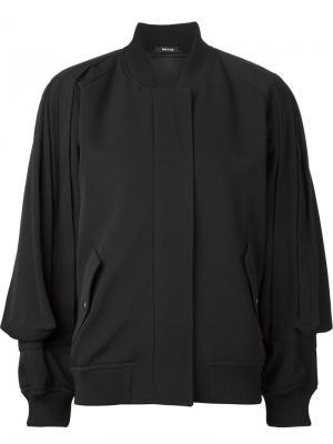 Драпированная куртка-бомбер Maison Margiela. Цвет: чёрный