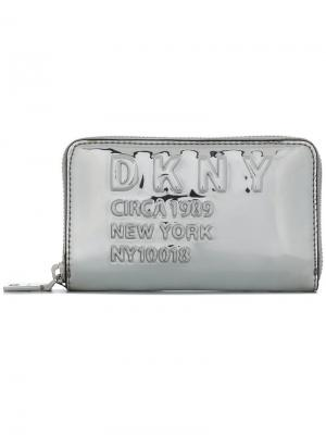 Кошелек с зеркальным эффектом DKNY. Цвет: металлик