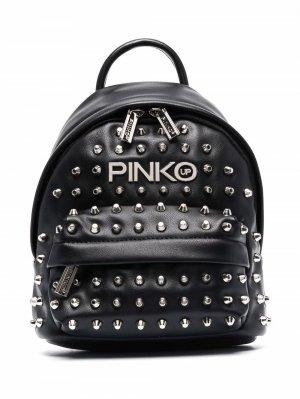 Рюкзак с логотипом Pinko Kids. Цвет: черный