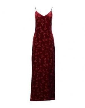Длинное платье ELIZABETH AND JAMES. Цвет: красно-коричневый