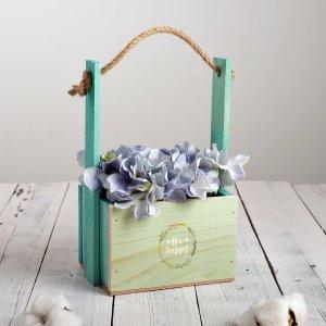 Кашпо флористическое с ручкой из верёвки Дарите Счастье