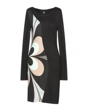Короткое платье 1-ONE. Цвет: стальной серый