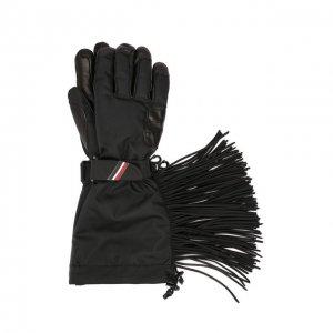 Утепленные перчатки 3 Moncler Grenoble Genius. Цвет: чёрный