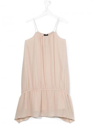 Платье на тонких лямках Little Remix. Цвет: бежевый