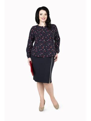 Кофточка Darissa Fashion. Цвет: темно-синий, красный