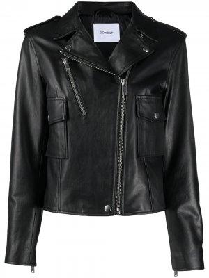 Байкерская куртка на молнии Dondup. Цвет: черный