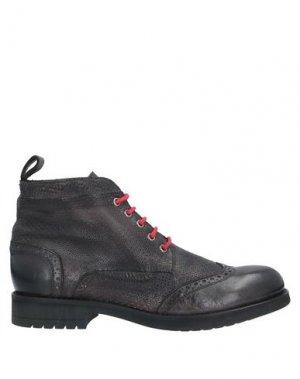 Полусапоги и высокие ботинки JP/DAVID. Цвет: стальной серый