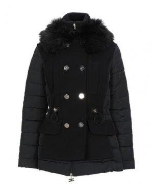 Пальто ELISABETTA FRANCHI ICY. Цвет: черный