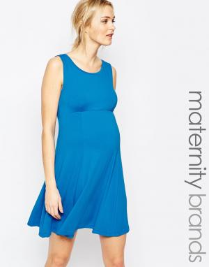 Приталенное платье без рукавов Isabella Oliver. Цвет: синий