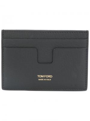 Визитница с принтом-логотипом Tom Ford. Цвет: чёрный