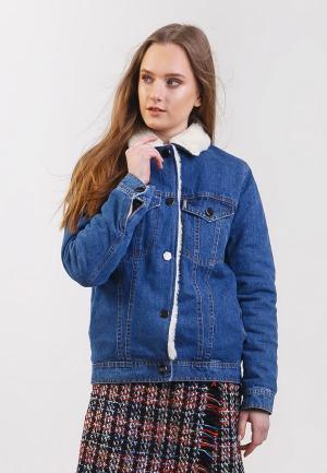 Куртка джинсовая Dasti. Цвет: синий