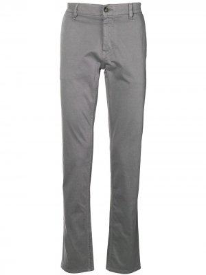 Классические брюки чинос BOSS. Цвет: серый