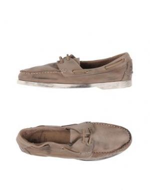 Обувь на шнурках LEATHER CROWN. Цвет: хаки