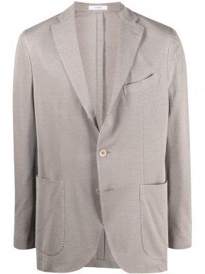 Однобортный пиджак с заостренными лацканами Boglioli. Цвет: нейтральные цвета