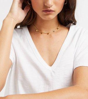 Позолоченное ожерелье-чокер с монетами -Золотой Orelia