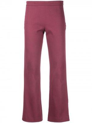 Расклешенные брюки Giambattista Valli. Цвет: красный