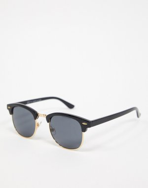Черные солнцезащитные очки в стиле ретро -Черный Topman