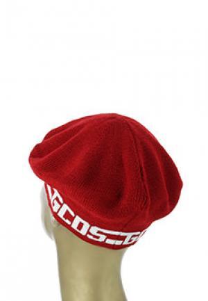Берет GCDS. Цвет: красный