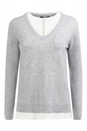 Кашемировый пуловер с отделкой ReVera. Цвет: серый