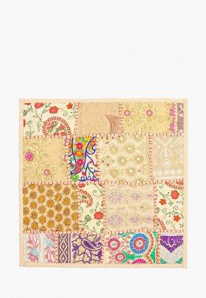 Наволочка декоративная Just Beauty с вышивкой, 40х40 см. Цвет: бежевый