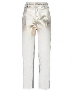 Джинсовые брюки 8PM. Цвет: золотистый