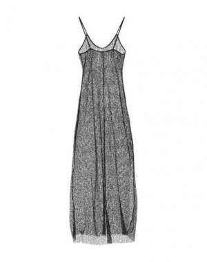 Длинное платье AGOGOA. Цвет: черный
