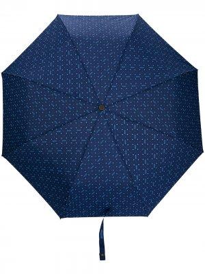 Зонт с цветочным принтом Moschino. Цвет: синий