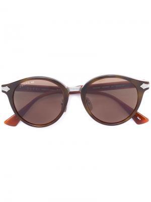 Солнцезащитные чки в круглой оправе Gucci Eyewear. Цвет: желтый