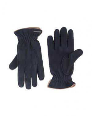 Перчатки CORNELIANI ID. Цвет: темно-синий