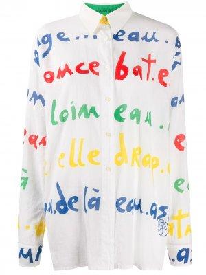Рубашка 1980-х годов с принтом JC de Castelbajac Pre-Owned. Цвет: белый