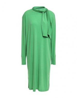 Платье до колена BY MALENE BIRGER. Цвет: зеленый