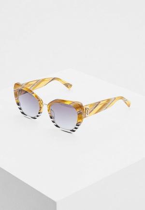 Очки солнцезащитные Marc Jacobs 313/G/S PJU. Цвет: коричневый