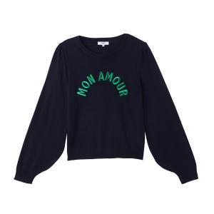 Пуловер с круглым вырезом, вышивкой, PEREGRINE SUNCOO. Цвет: темно-синий