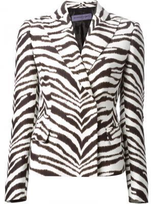 Куртка с зебровым узором Emanuel Ungaro. Цвет: белый