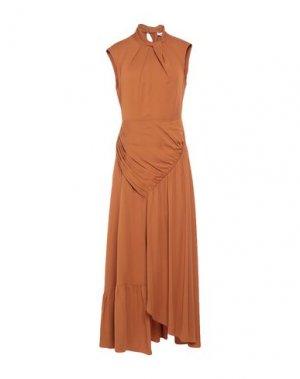Длинное платье SELF-PORTRAIT. Цвет: верблюжий