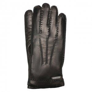Кожаные перчатки Corneliani. Цвет: чёрный