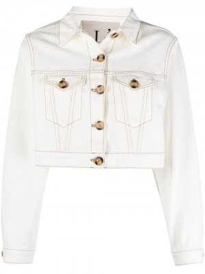 LAutre Chose укороченная джинсовая куртка L'Autre. Цвет: белый